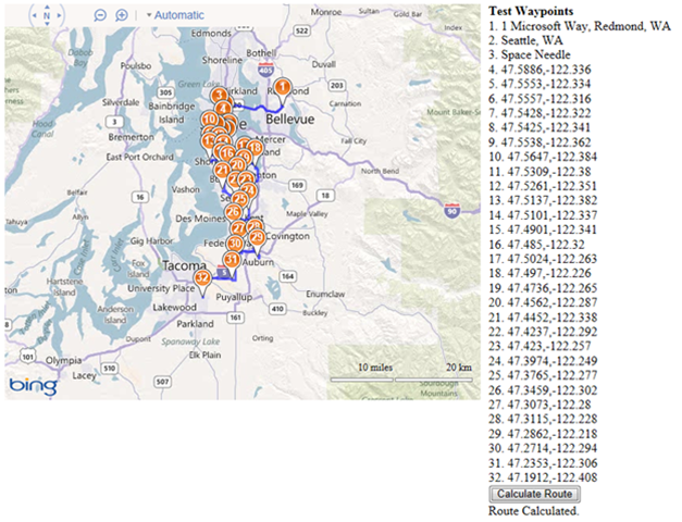 Calculating long routes with Bing Maps V7 Rickys Bing Maps Blog